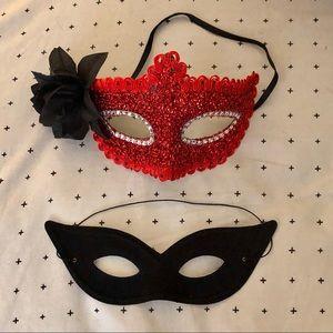 Halloween Masquerade Cat Eye Masks x2- Sexy & Fun!